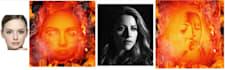 converir en atractiva figura flameante cualquier imagen