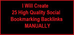 do25 High Quality social Bookmarking Backlinks MANUALLY