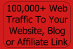drive 100k traffic to your website blog affiliate link