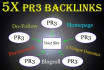 give you 5X PR3 HOMEPAGE DoFollow Blogroll Links