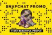 promote you on my 112k Snapchat