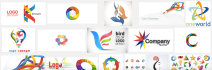 sketch a business logo with feng shui elements embedded