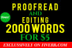 do editing and professional proofreading