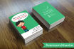 draw and design CHARACTER business card