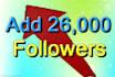 add 26,000 new followers