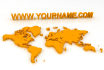 create your website name in 3d with world map