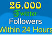 add 30000 Twitter followers