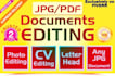 do Photo editing,SCAN pdf,document editing,retouch photoshop
