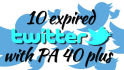 provide 10 twitter PA 45 above with DA100