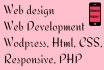 do designing and responsive design and photoshop work