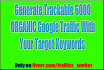promote generate Trackable 6000 ORGANIC Google Traffic With Your Target Keywords
