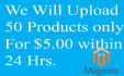 upload 50 products on your magento store