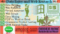 do outstanding Web Research on any topic,3 hours