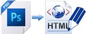 convert psd to html