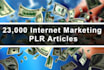 give you 23,000 PLR Articles on Internet Marketing