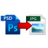 convert your Photoshop file to jpeg png tiff or pdf