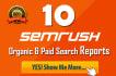 darte 10 informes en SEMRUSH con las keywords de tu competencia