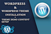 install responsive WordPress website like demo and customize