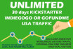 send TRAFFIC on Your Kickstarter, Indiegogo, or GoFundMe campaign