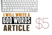 write a 600 words article