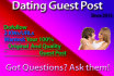 post your dating guest post with 2 keywords