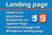 create an amazing responsive landing page, squeeze page