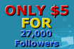 help your acc more publicity with 27,000 twitter followers