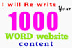 professionally REWRITE 1000 seo web content