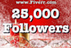 give you 25,000 twitter followers