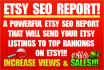 create an Etsy seo report of the best keyword tags for your shop