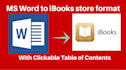 convert your MS word doc to ibooks store format