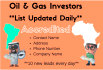 deliver a list of Accredited Investor Leads for Oil and Gas