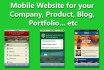 create mobile websites
