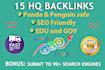 create 15 Powerful High Quality Backlinks