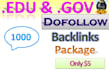 create 1000 backlinks edu gov for your site