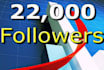 send 22,000 followers to your account