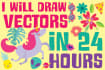 draw VECTORS in 24 hours