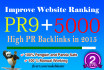 create 15 SEO Pr 9 Links manually and 5000 Tire 2
