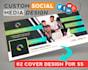 diseñar 02 cover profesionales para tus redes sociales
