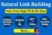 do Natural Link Building to boost ranking in Google