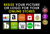 resize image for amazon, online stores