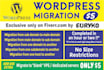 do fast WordPress Migration or Transfer to NEW Host or Server or Domain