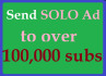 blast Solo Ads To Over 100,000 Targeted Niche Of Your Choice for 7days