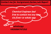 do Chemical engineering And Chemistry Related Task