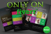 design amazing flyers, banners or any graphic work