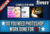 do any PHOTOSHOP Work, Photo Editing, Photoshop Image In Less Than 24 Hours
