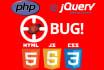 fix bugs in your website