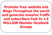 promote Your Website, Blog url or page in 1,500,000 Facebook groups members