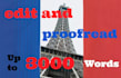 edit and proofread any French Articles, texts , or documents