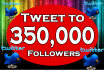 tweet  your link to my 350000 followers on Twitter